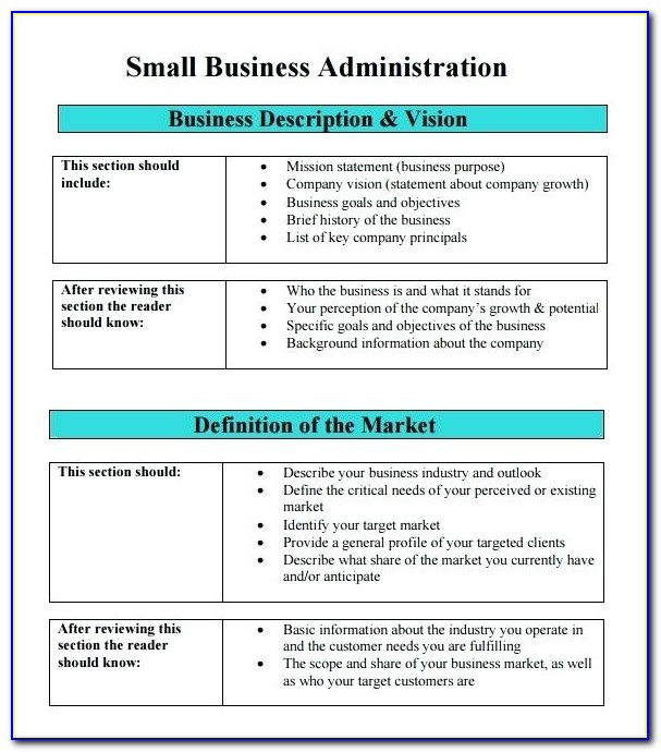 Sample Business Continuity Plan Template For Small Businesses