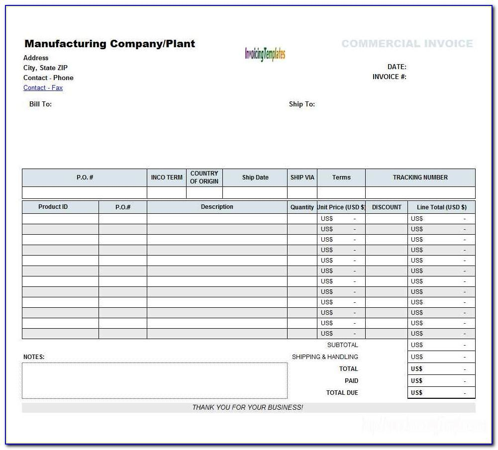 Sample Invoice Template For It Contractor