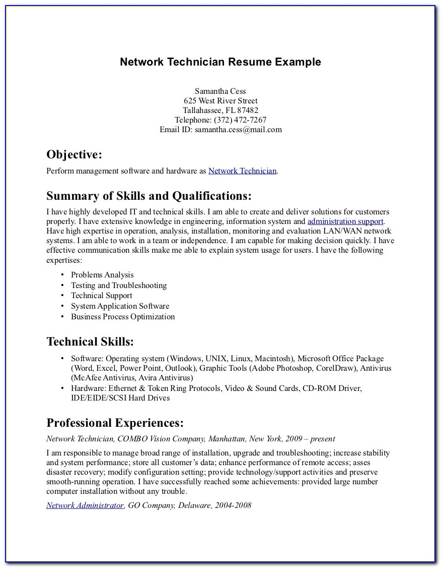 Example Of Pharmacy Tech Resume Vincegray2014