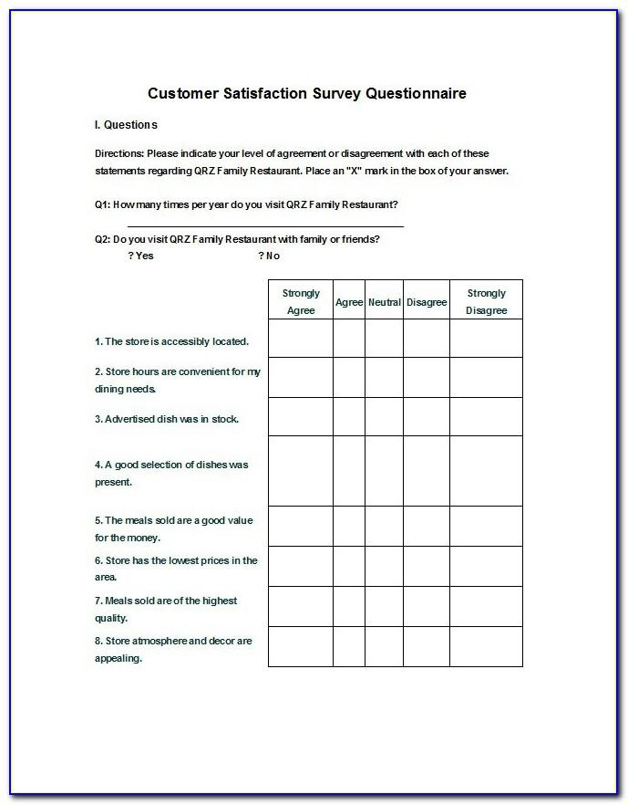Sample Survey Templates Free Vincegray2014