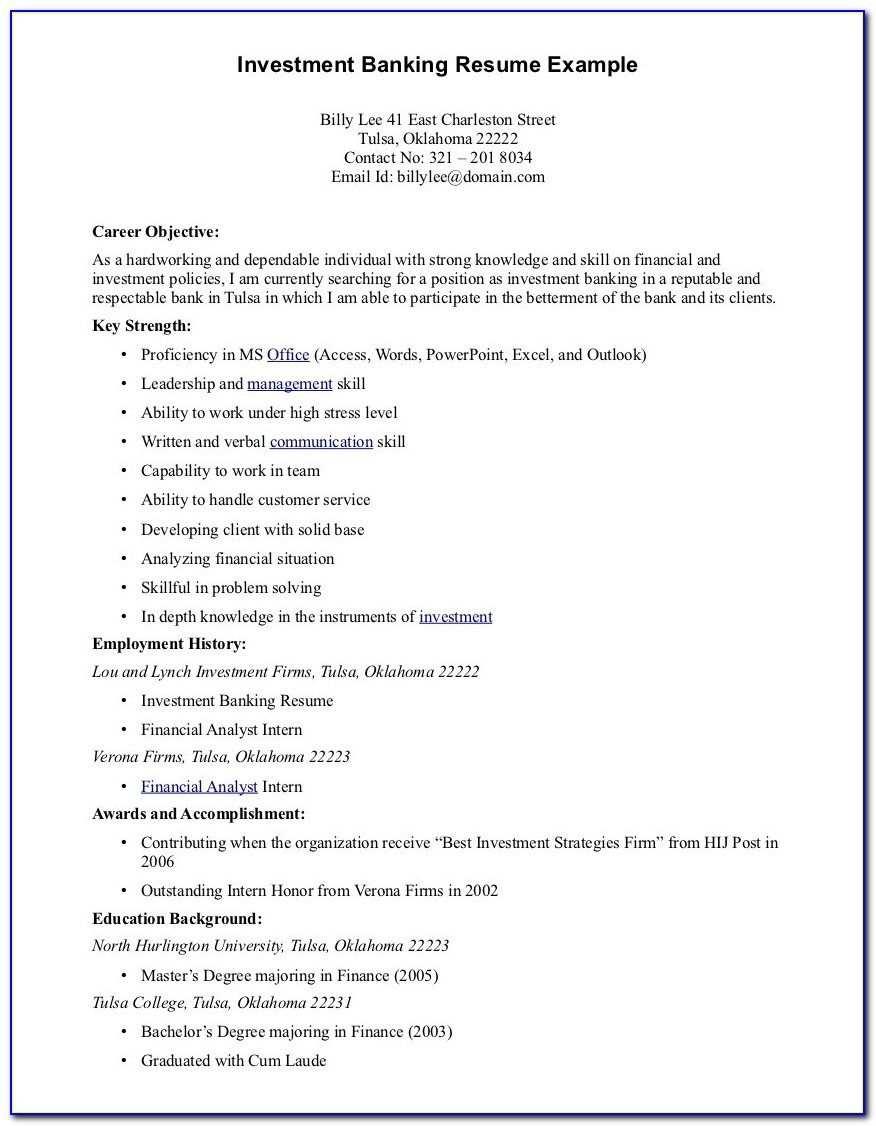 Samples Of Great Resume Objectives