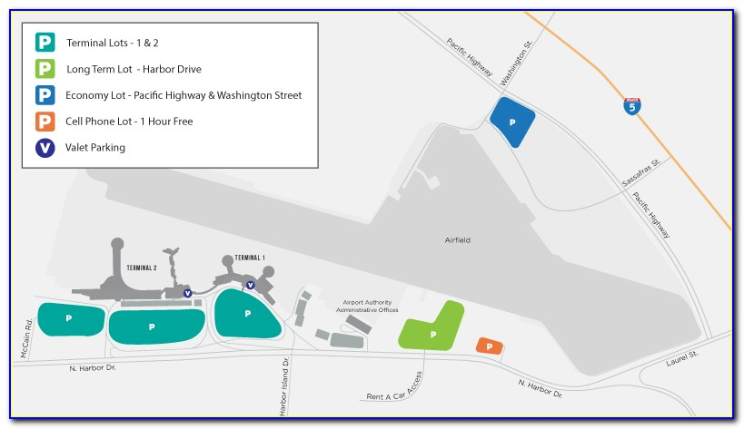 San Diego Airport Short Term Parking Map