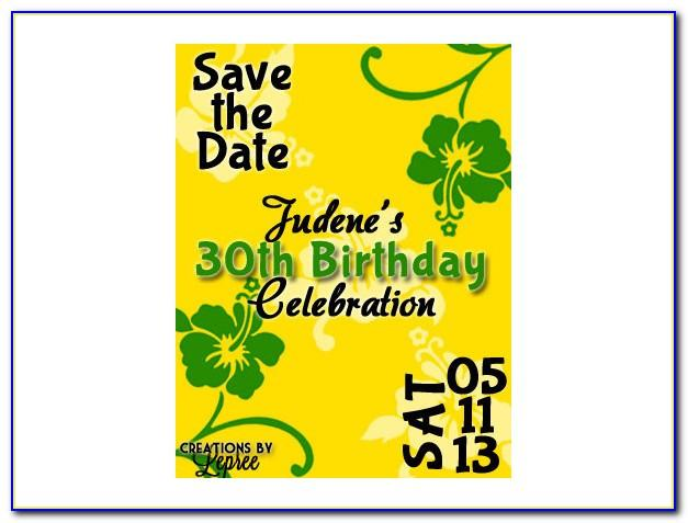 Save The Date 40th Birthday Templates Free