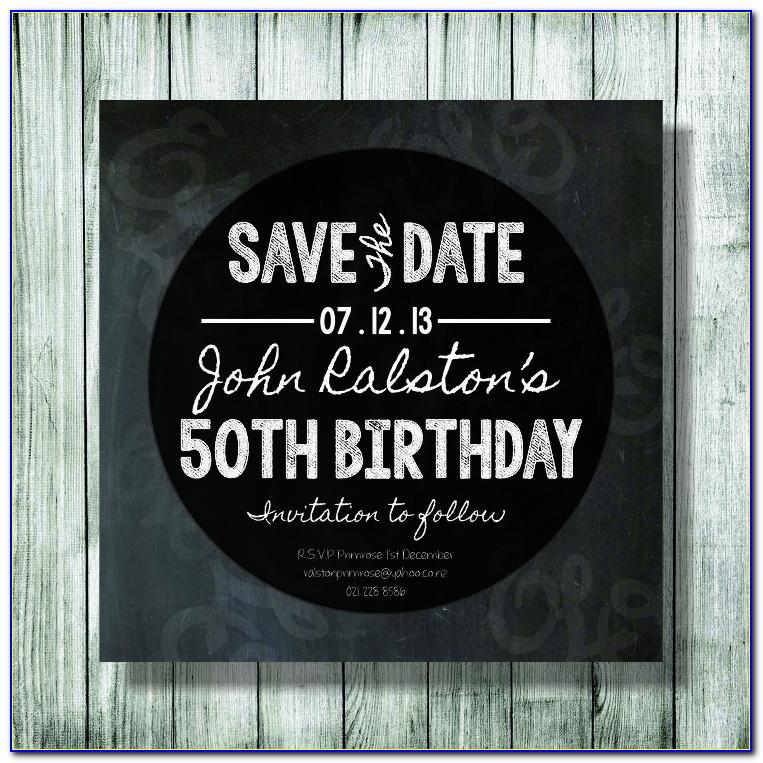 Save The Date 50th Birthday Templates Free