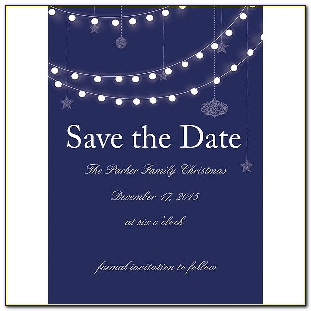 Holiday Lights Christmas Party Save The Date Cards Save The Date Christmas Party Templates Save The Date Christmas Party Templates