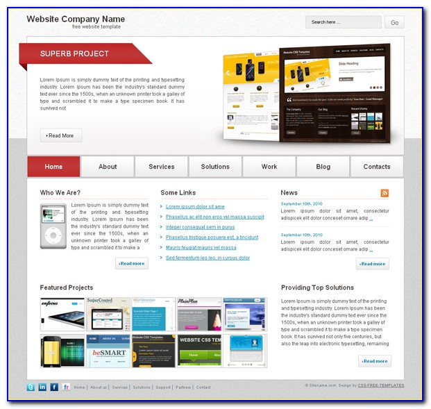 School Website Templates Free Download Html With Css Jquery