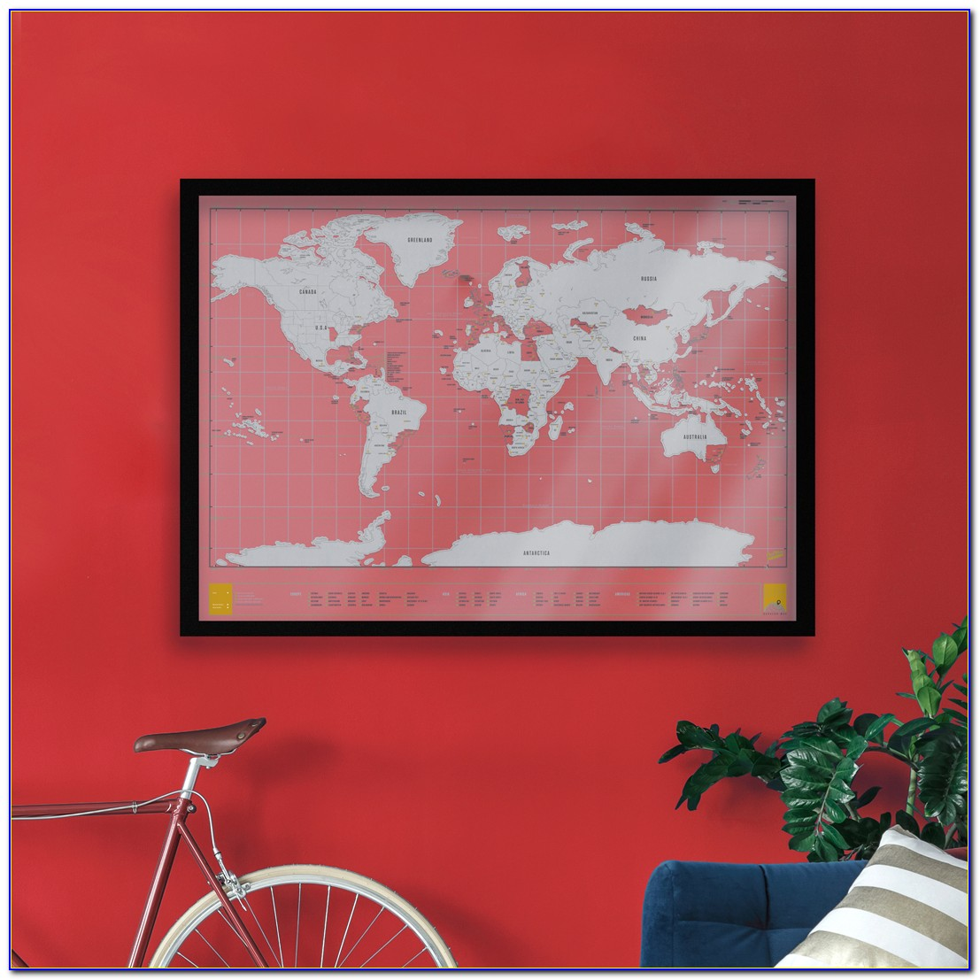 Scratch Map Frame Ikea