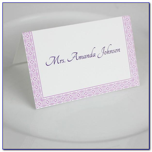 Seating Card Template Free Download