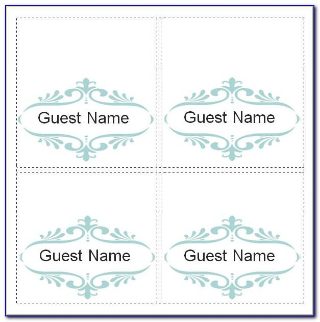 Seating Card Template Free