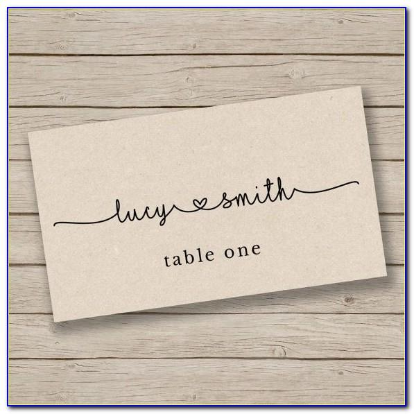 Seating Cards Template Free