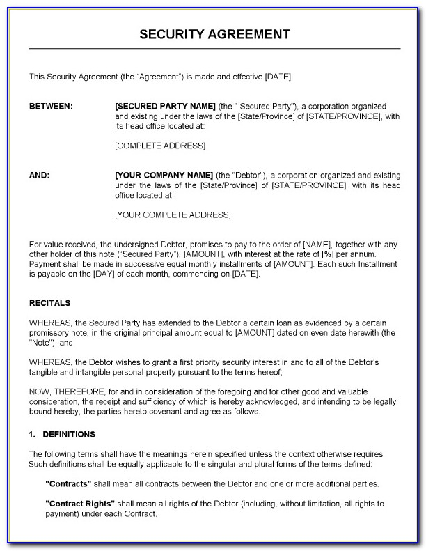 Security Alarm Monitoring Contract Template