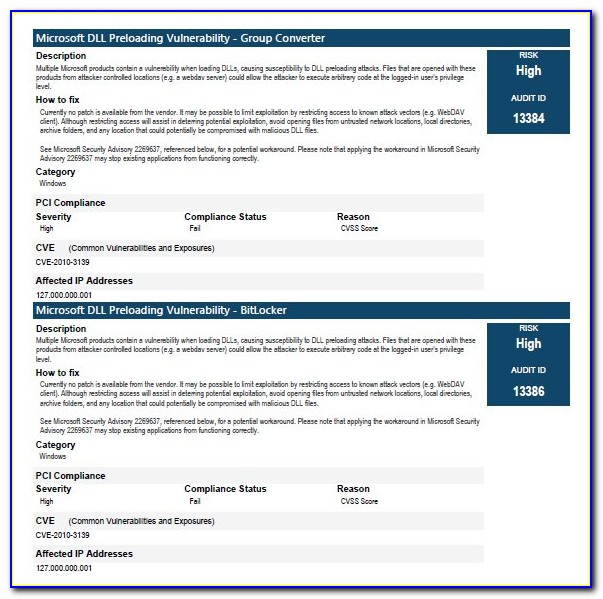Security Vulnerability Risk Assessment Template