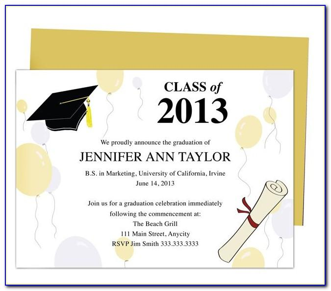 Senior Invitations Templates