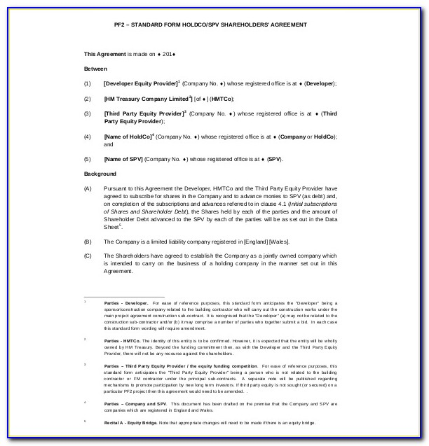 Shareholder Agreement Template South Africa