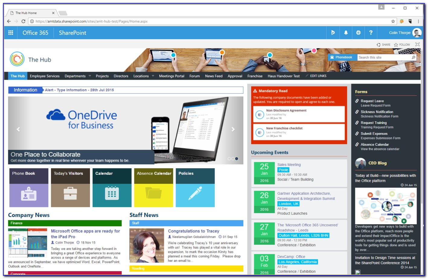 Sharepoint 2013 Intranet Site Templates
