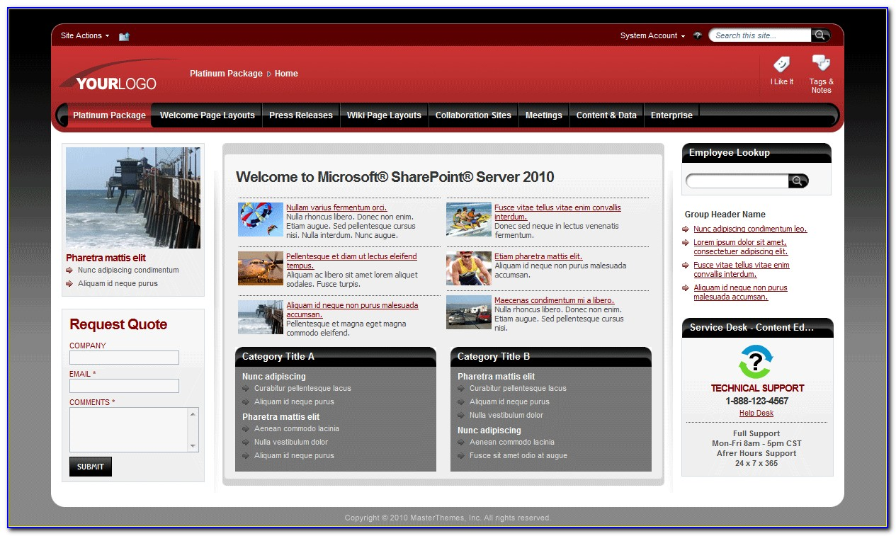 Sharepoint 2013 Template Free Download