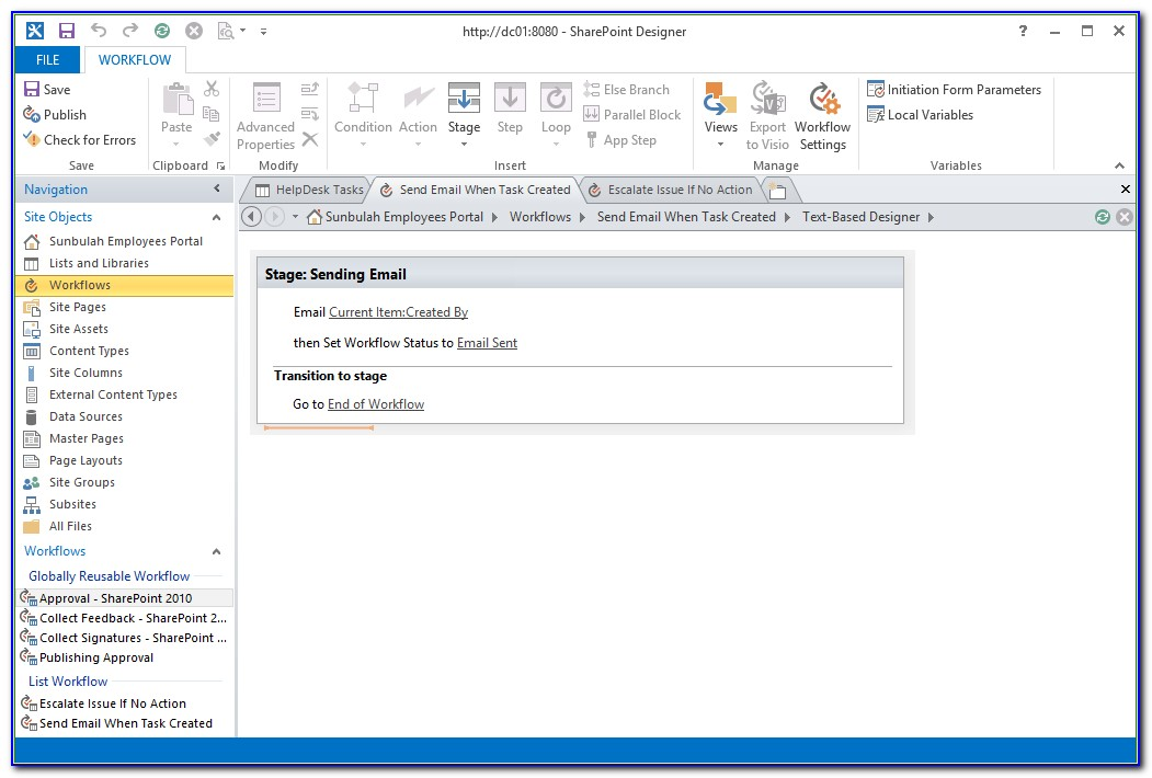 Sharepoint 2013 Workflow Form Cannot Be Rendered