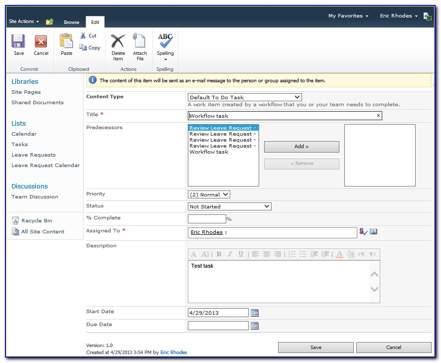 Sharepoint 2013 Workflow Initiation Form Parameters