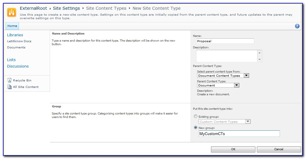 Sharepoint Document Library Template