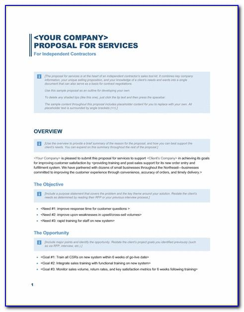Sharepoint Project Proposal Template