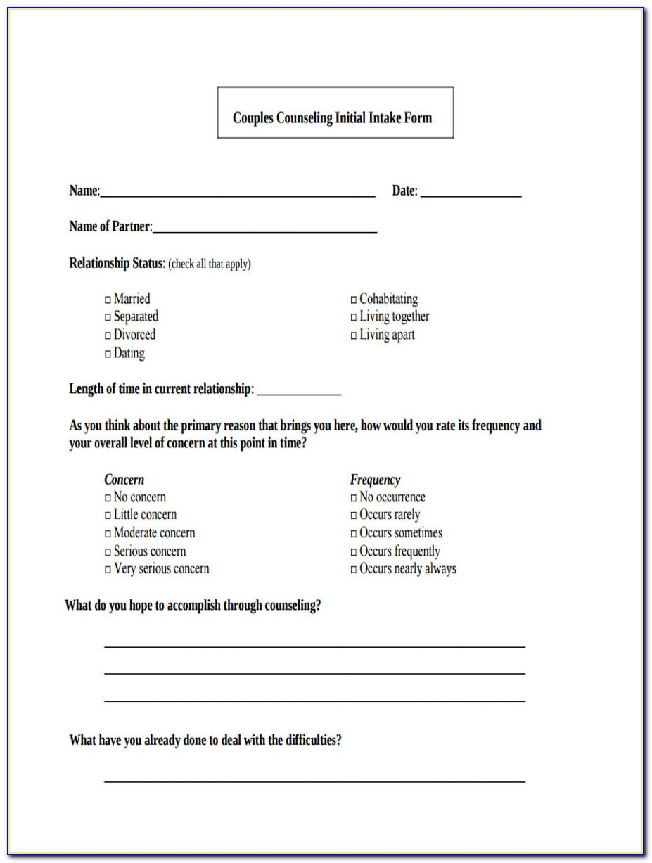 Shelby County Premarital Counseling Form