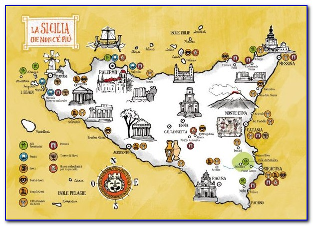 Sicily Sightseeing Map