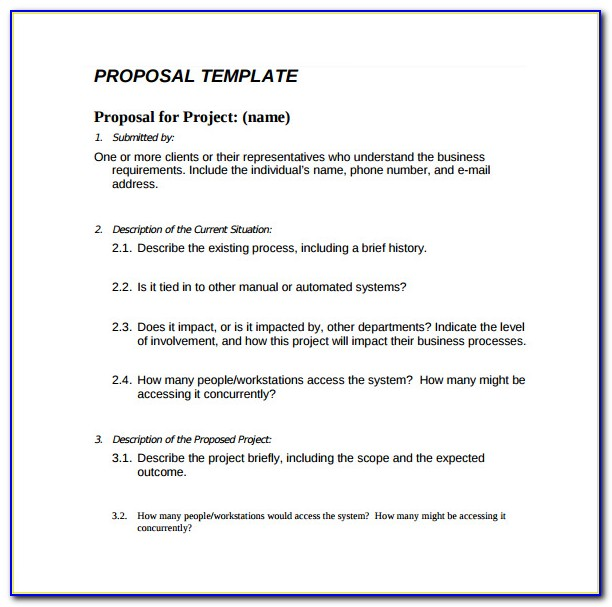 Simple Business Proposal Template Microsoft Word