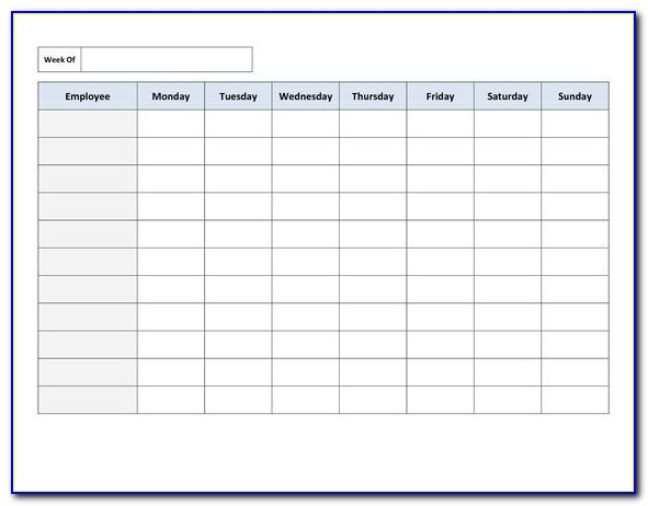 Simple Employee Schedule Template Excel