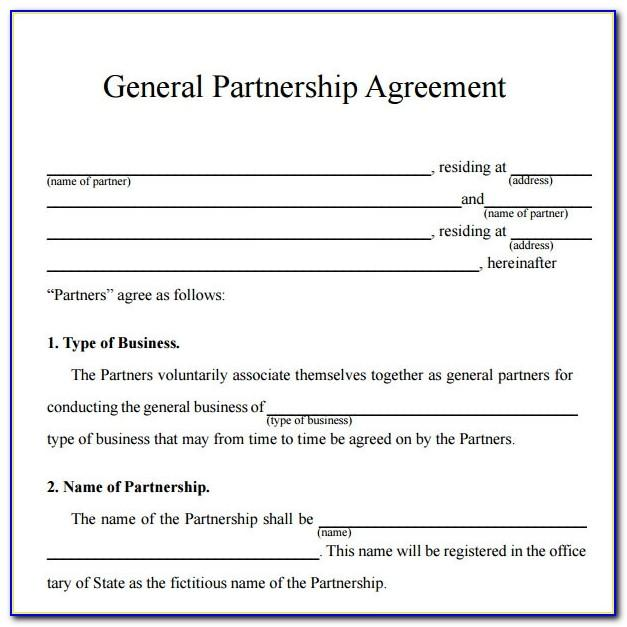 Simple Partnership Agreement Template Australia