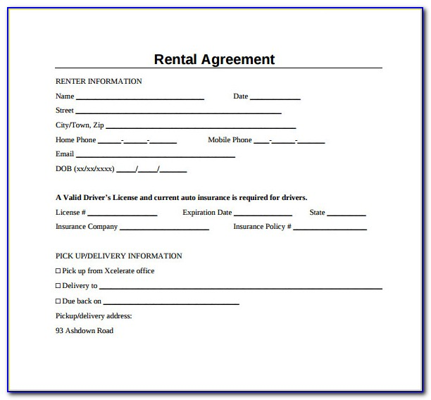 Simple Rent Agreement Format In Marathi