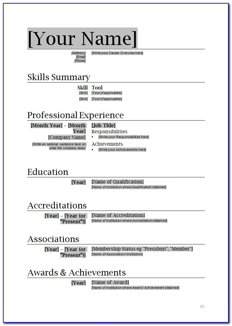 Example Of Simple Resume Format Vincegray2014