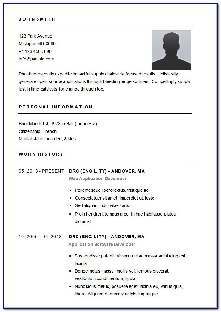 Simple Resume Template Malaysia Download