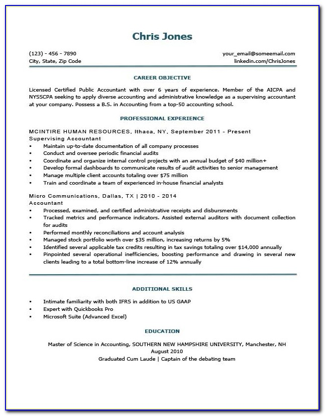 Simple Resume Template With Picture Free Download