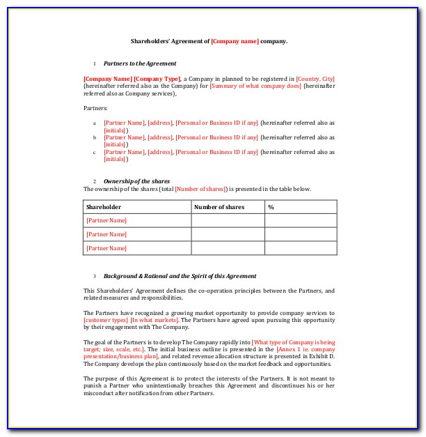 Simple Shareholder Loan Agreement Template