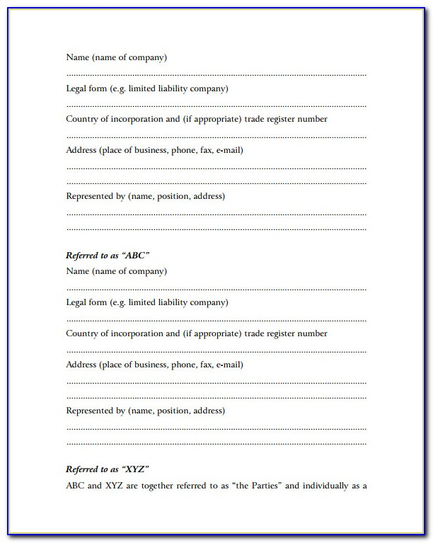 Small Business Contract Examples