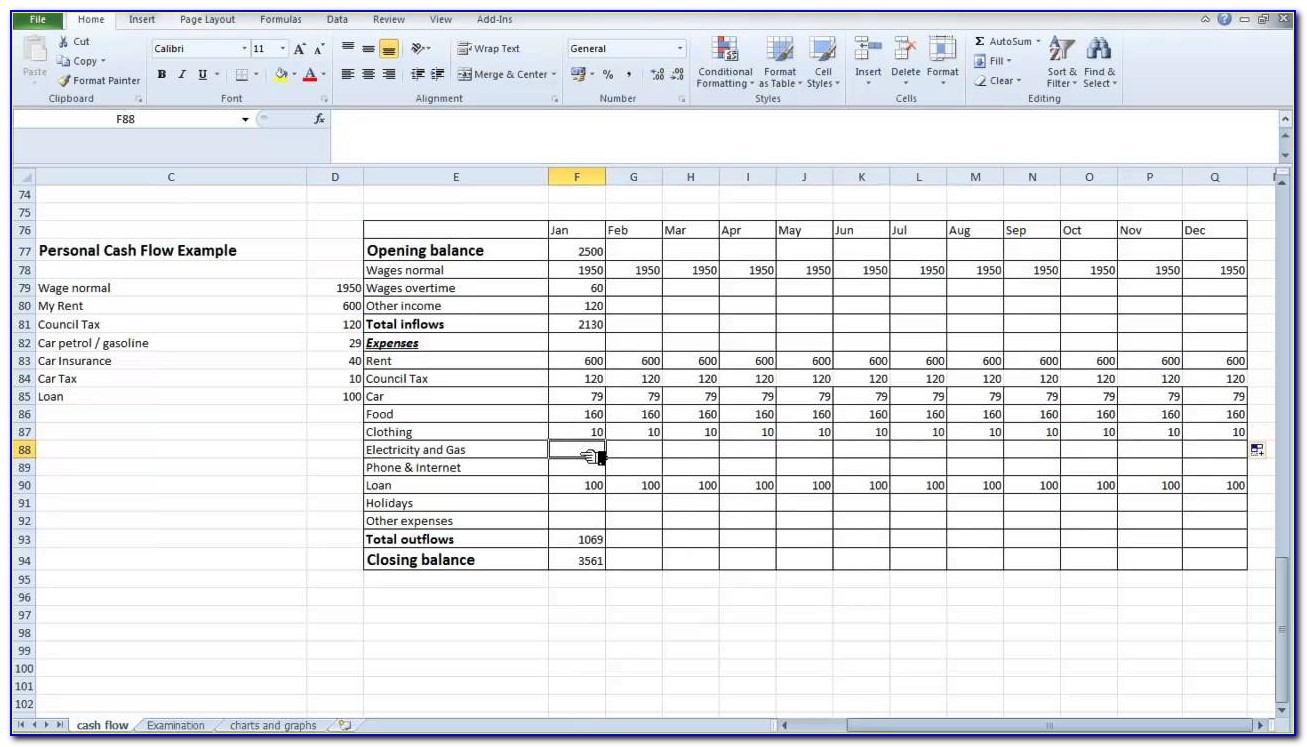 Small Business Expenses Spreadsheet Template