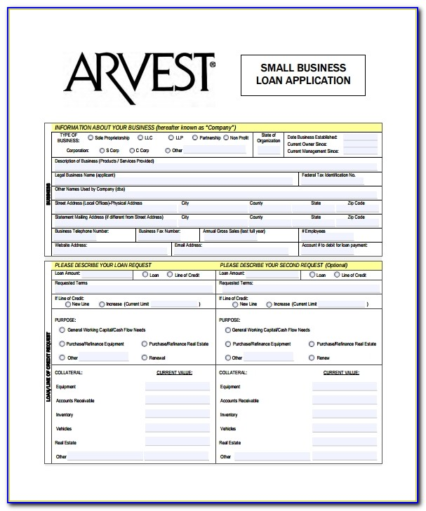 Small Business Loan Sample