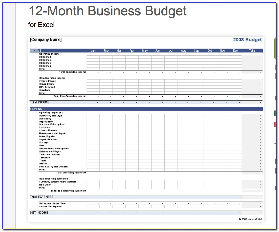 7+ Free Small Business Budget Templates | Fundbox Blog With Business Expenses Template