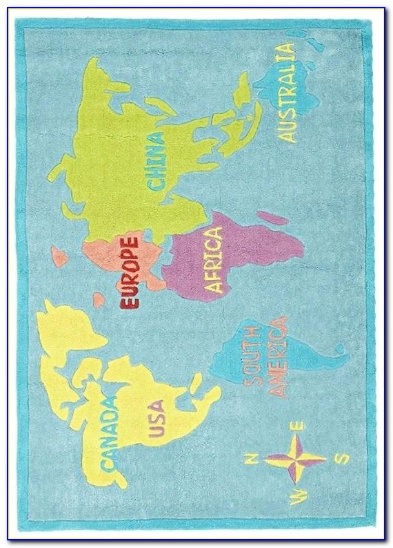 Smithsonian Map Of The World Educational Rug