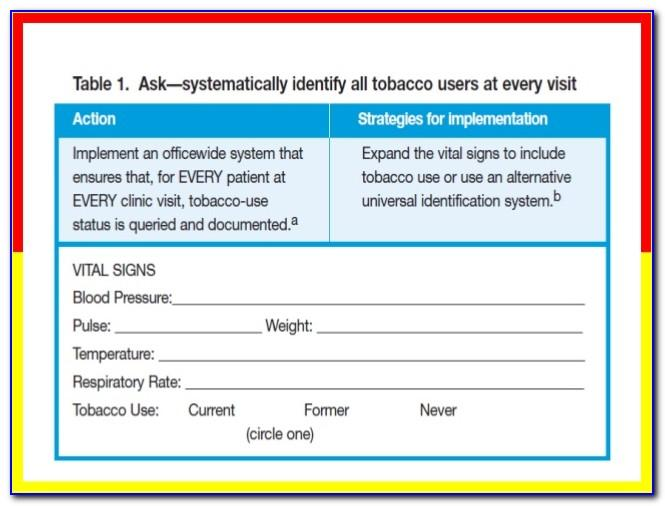 Smoking Cessation Counseling Documentation Template