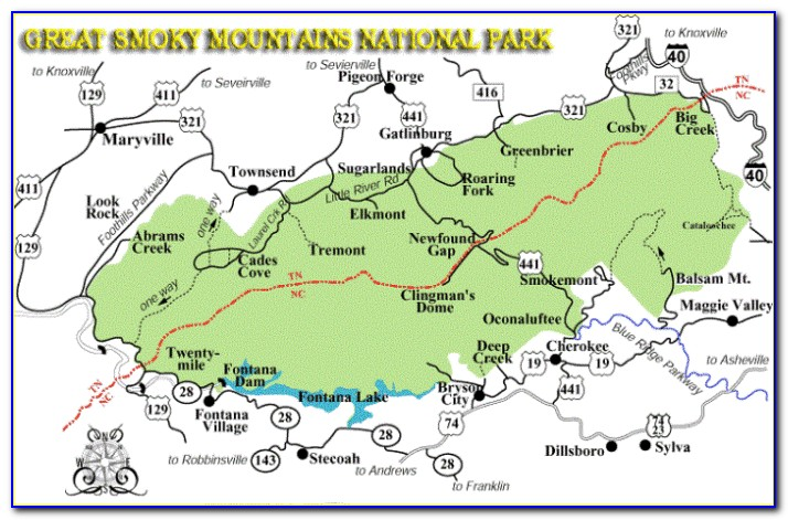 Smoky Mountain National Park Trail Map Pdf
