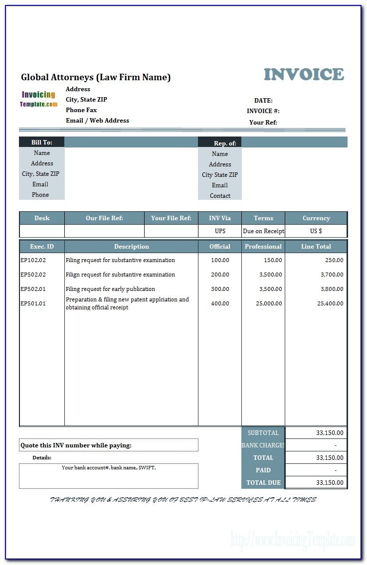 Snow Removal Invoice Template