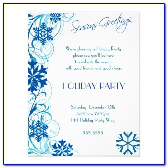 Snowflake Party Invitation Template