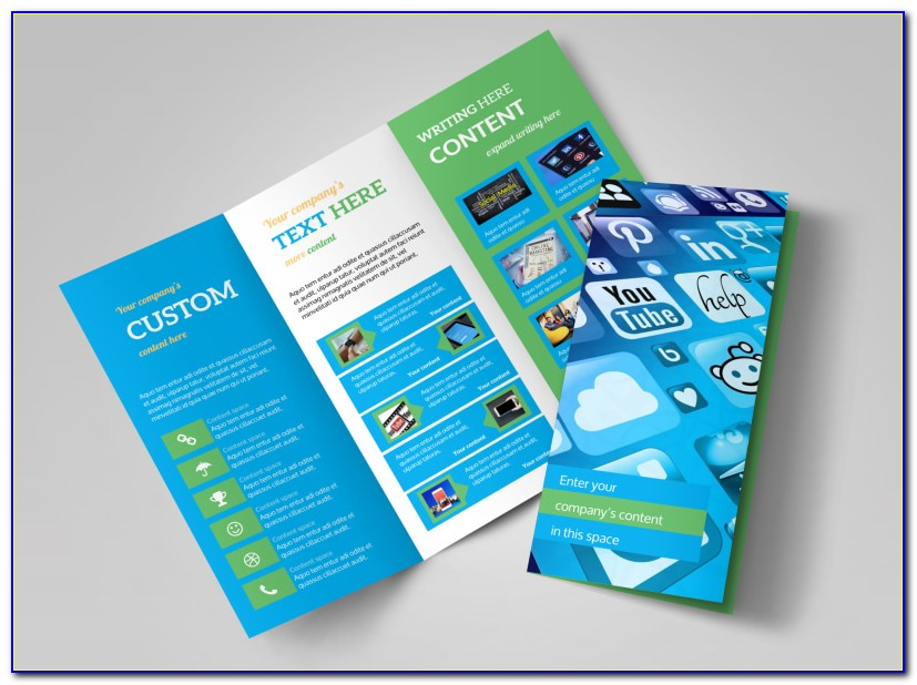 Social Media Marketing Brochure Template