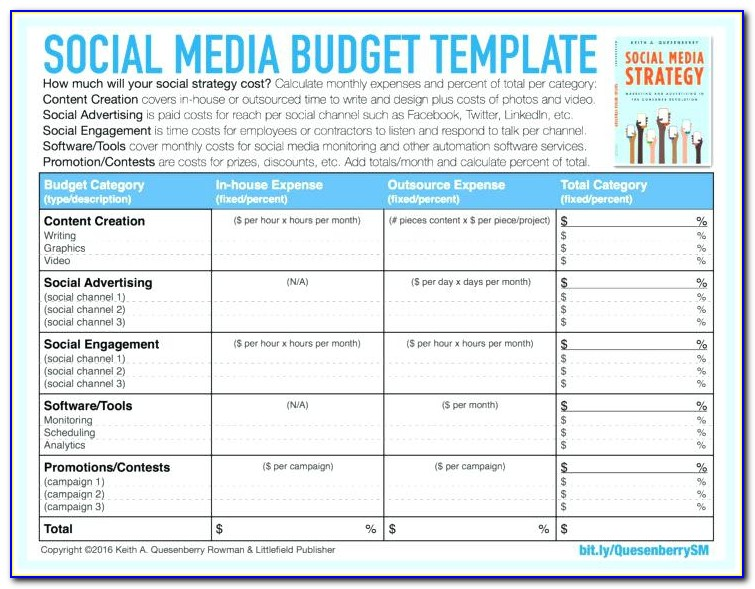 Social Media Proposal Template Sample