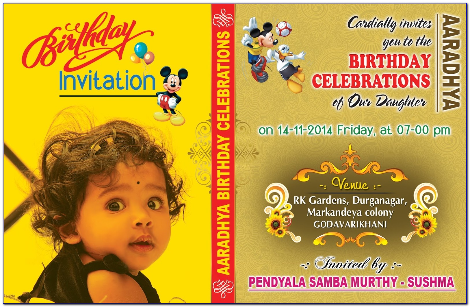 Sofia The First Birthday Invitation Card Template Free Download