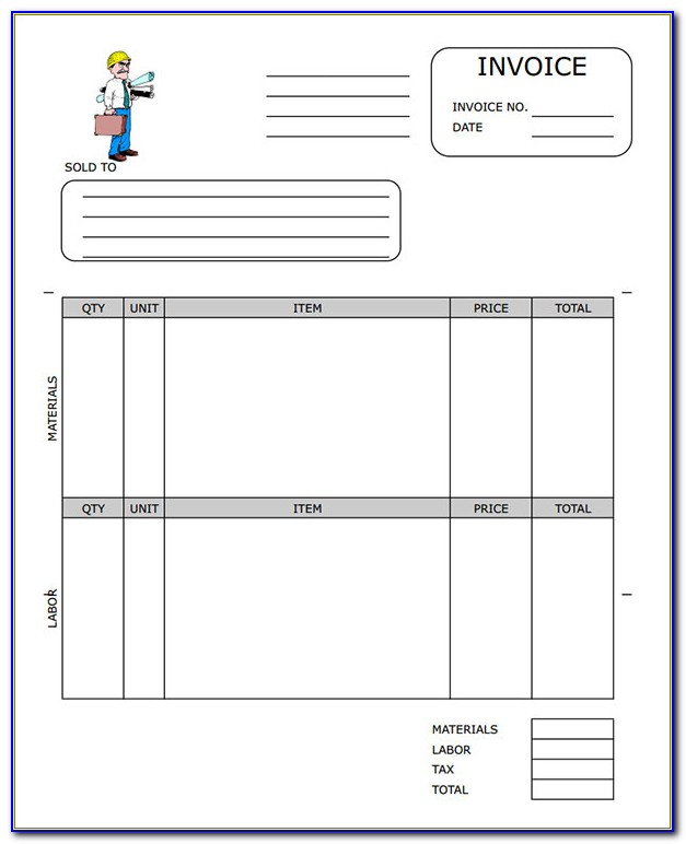 Software Contractor Invoice Template Word
