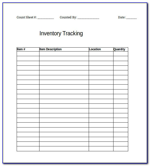 Software Inventory Tracking Template