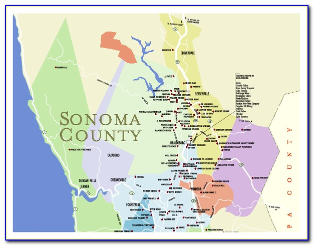 Sonoma County Wine Road Map