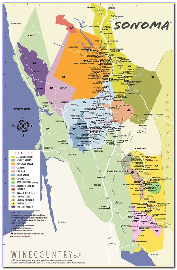 Sonoma Valley California Map